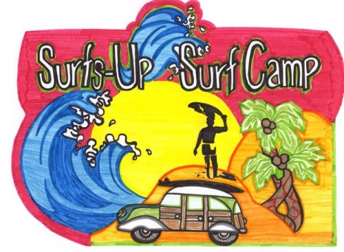 Surf School Logo Spring Break Camp